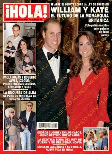 Paola Rojas Con Luis Roberto Alves Zague Portada Revista Hola